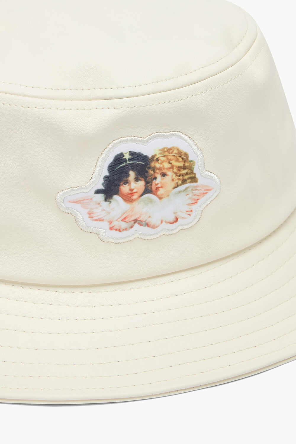 Angels Vinyl Bucket Hat Cream