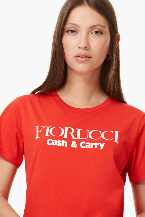 Cash And Carry T-Shirt Blood Orange