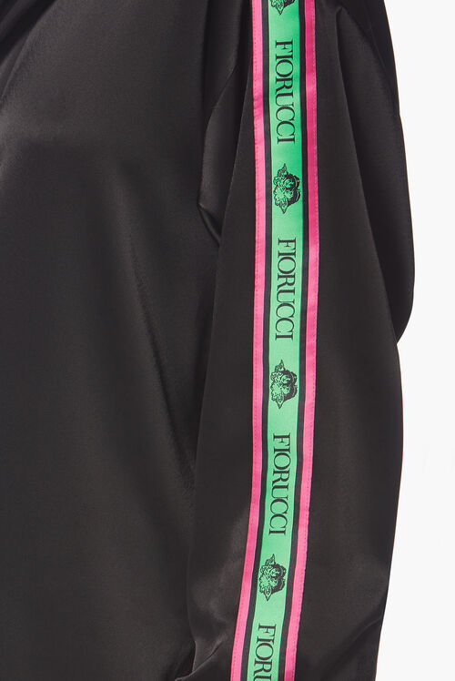 Oversized Pyjama Style Shirt Black
