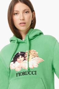 Vintage Angels Hoodie Italian Green