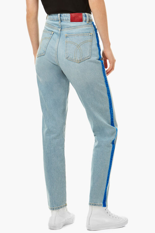 Tara Tapered Logo Jeans Light Vintage
