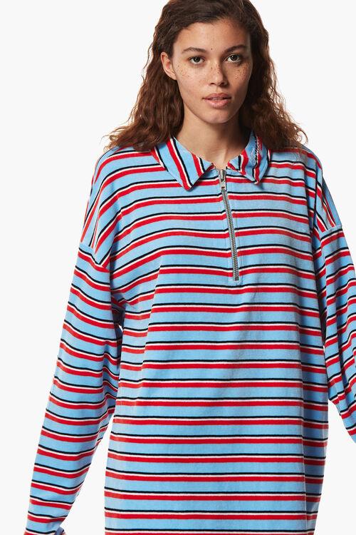 Toweling Rugby Sweatshirt