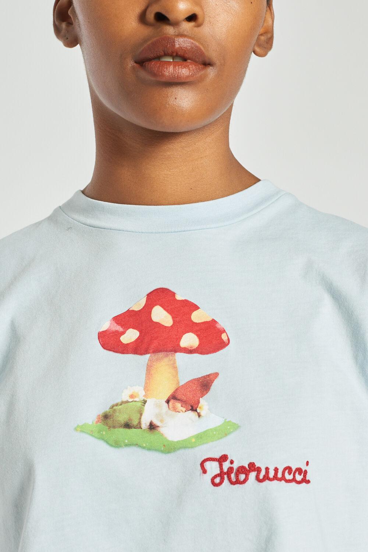 Woodland Mushroom Crop T-Shirt Pale Blue