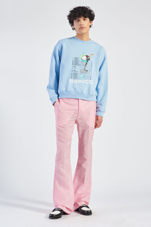 Gelato Graphic Logo Sweatshirt Blue