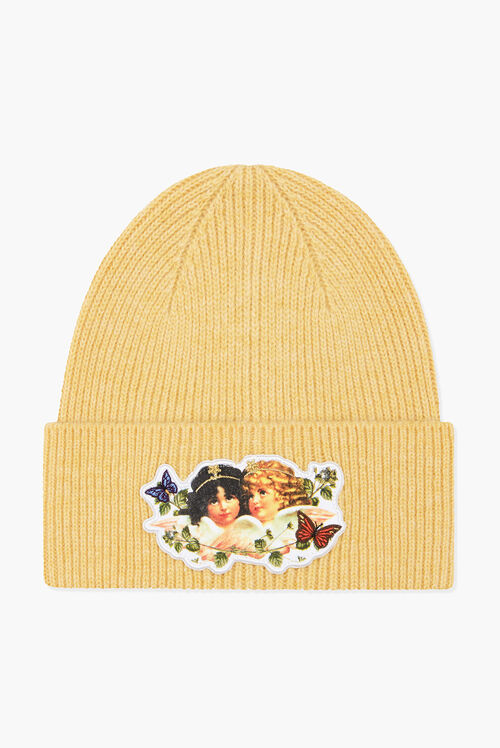 Woodland Angel Beanie Hat Yellow