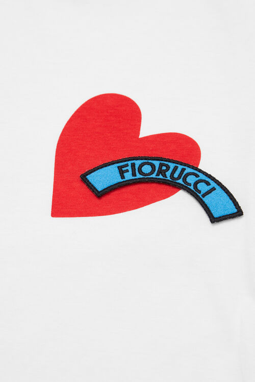 Red Heart Logo T-Shirt White