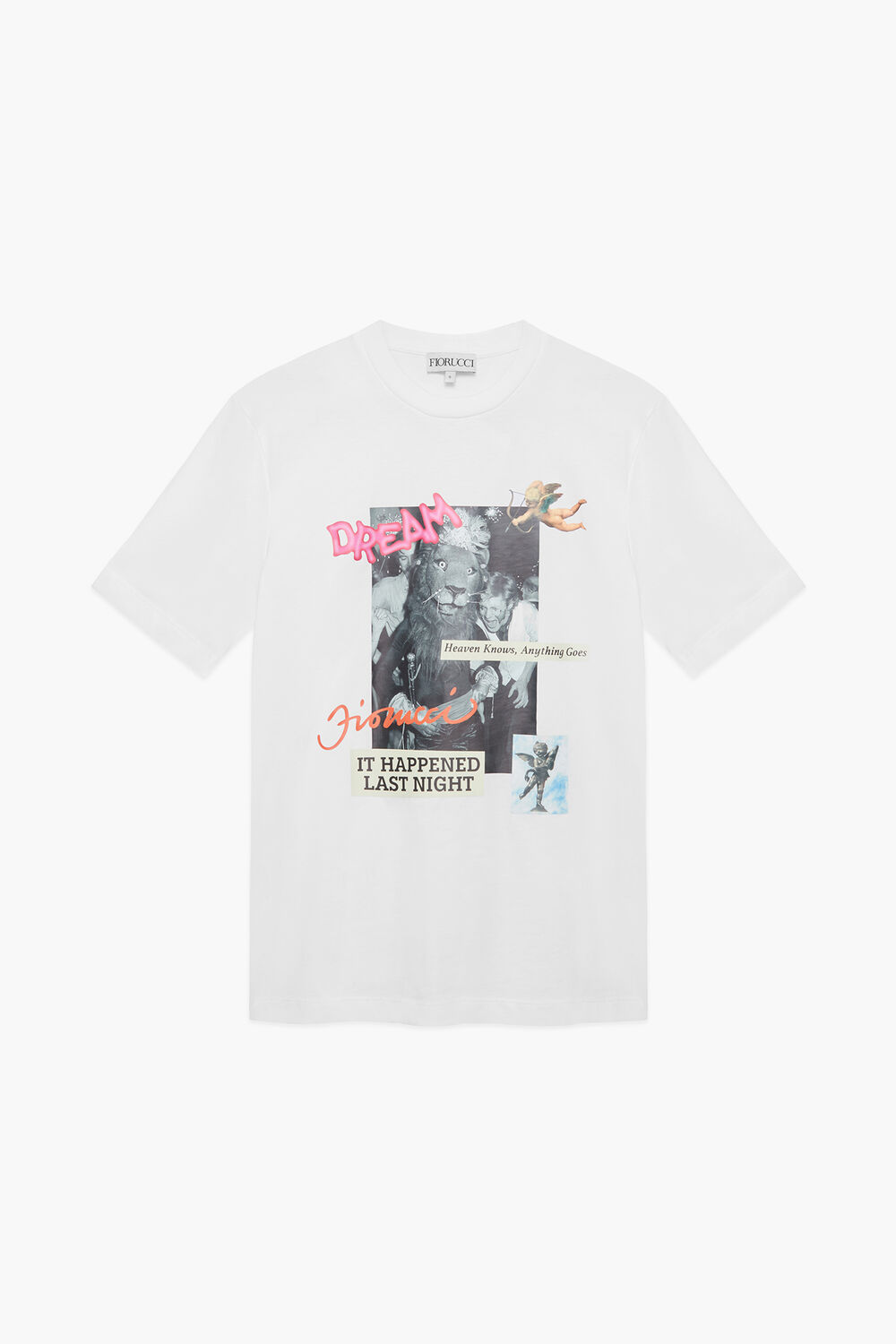 Heaven Goes Graphic T-Shirt White