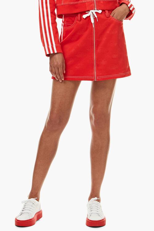 Adidas x Fiorucci Jacquard Angel Skirt Red