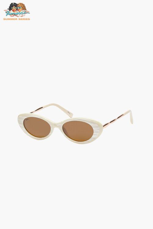 Reality Eyewear High-Society Beige Sunglasses