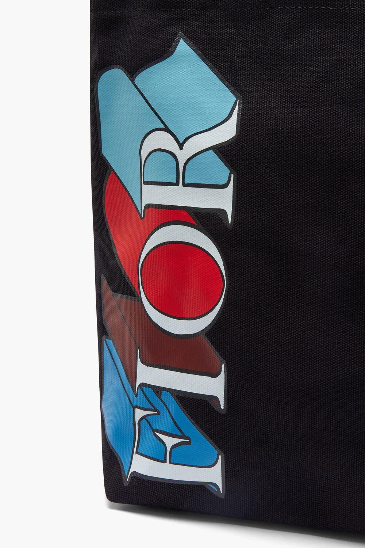 Exploded Logo Tote Black