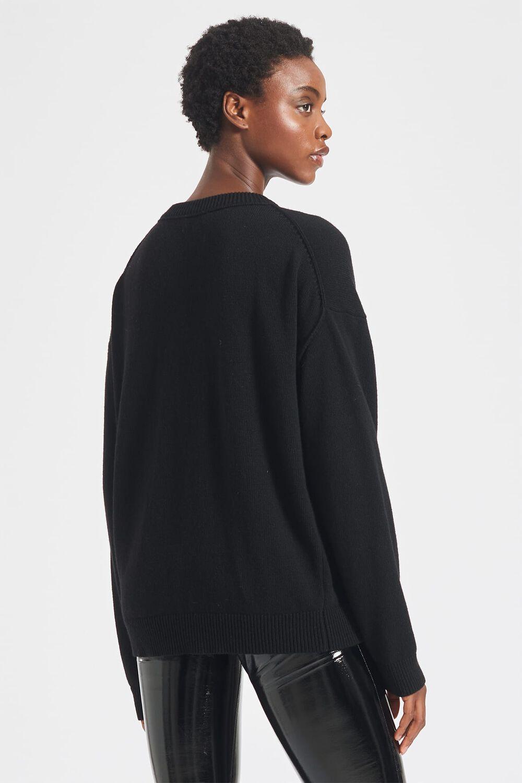 Milan Angels Lambswool Knit Black