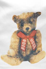 Teddy Bear Tote Bag White