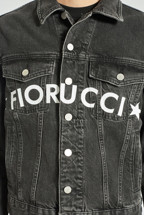 Star Logo Denim Jacket Black