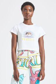 Venus Angels Crop T-Shirt White