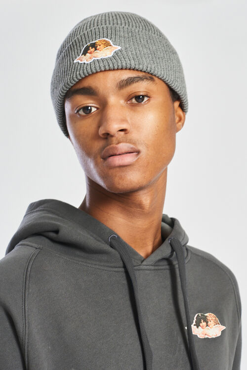 Icon Angels Rib Beanie Grey