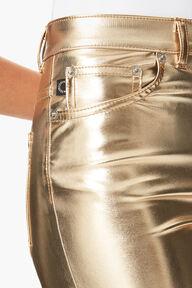 Yves Vinyl Trousers Gold