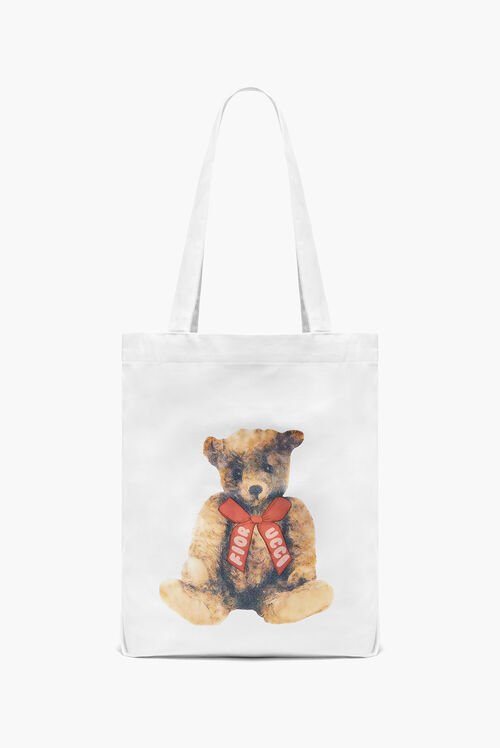 Teddy Bear Tote Bag White
