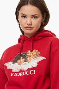 Angels Crop Hoodie Red