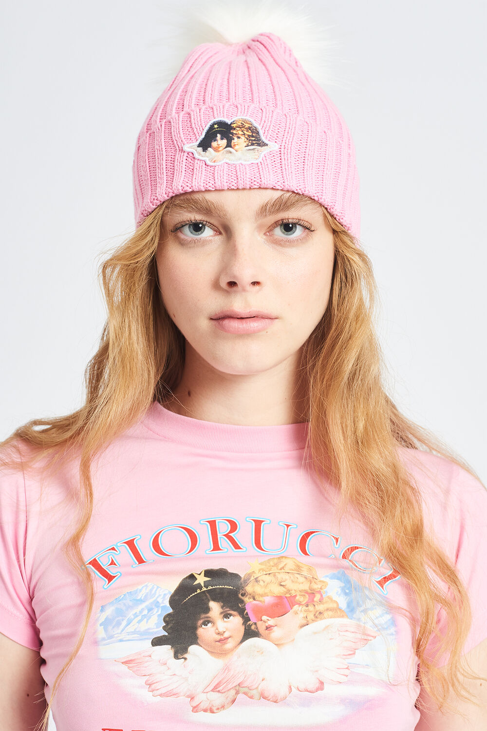Icon Angels Bobble Hat Pink