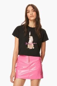 Bunny Boxy Crop T-Shirt Black