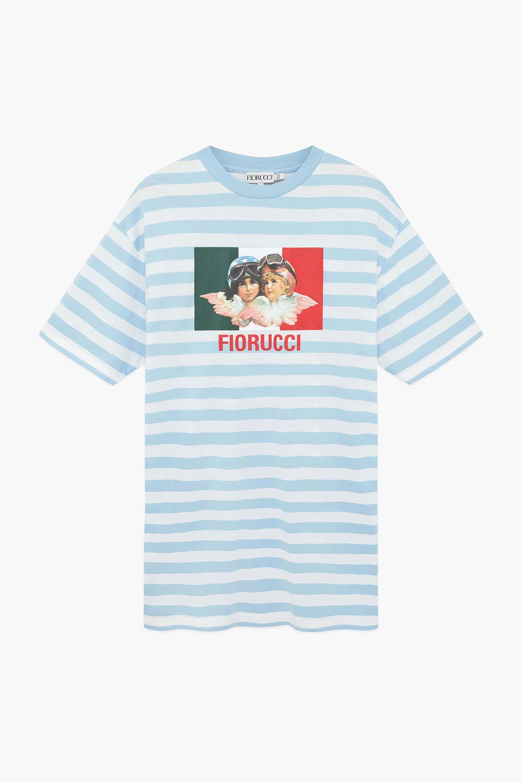 Speed Queen Angels Stripe T-Shirt Dress Blue
