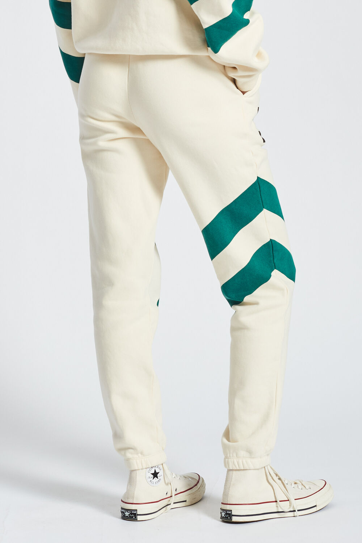 Logo Stripe Joggers Off White