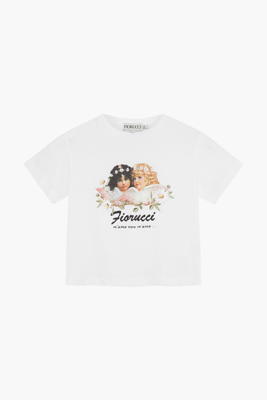 Daisy Angels Crop T-Shirt White