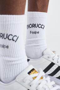 Equipe Logo Cotton Socks White