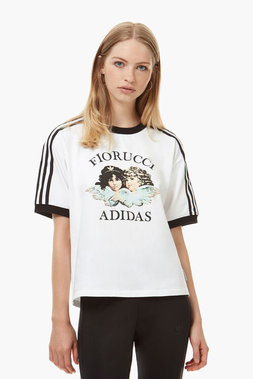 Adidas x Fiorucci Angel & Stripe T-Shirt White