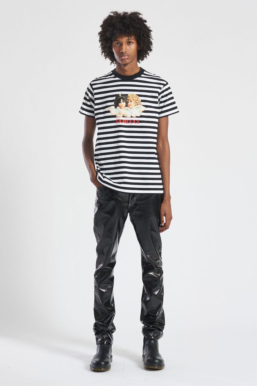 Angels Stripe T-Shirt Black
