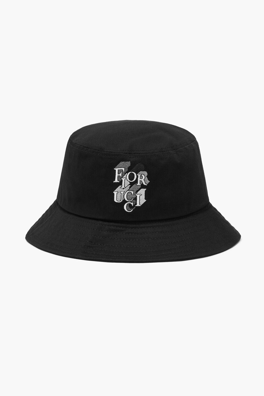 Mono Logo Bucket Hat Black