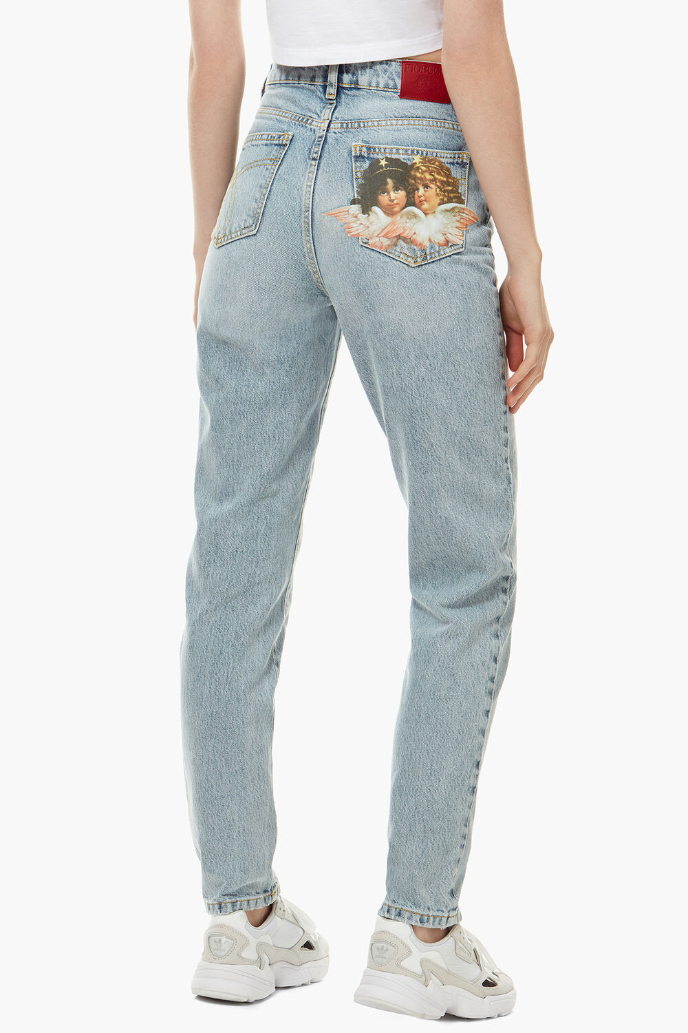 Tara Patch Tapered Jean