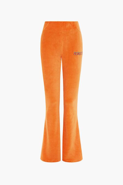 Logo Velour Pant Orange