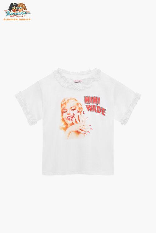 Mimi Wade Marilyn Baby T-Shirt White