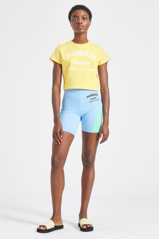 Equipe Logo Crop T-Shirt Yellow