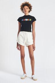 Monogram Logo Crop T-Shirt Black