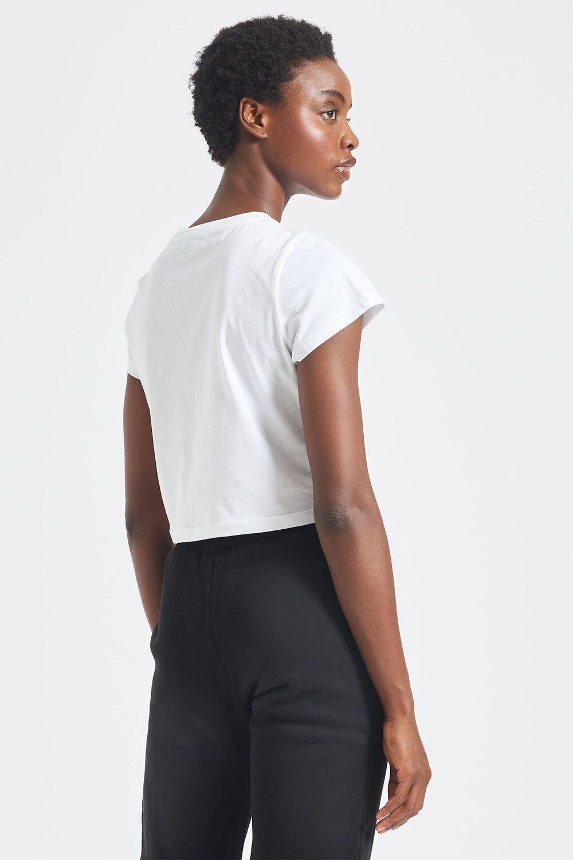 Poolside Crop T-Shirt White