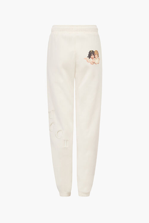 Embroidered Logo Angel Jogger Off White