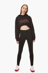 Adidas x Fiorucci Cropped Hoodie Black