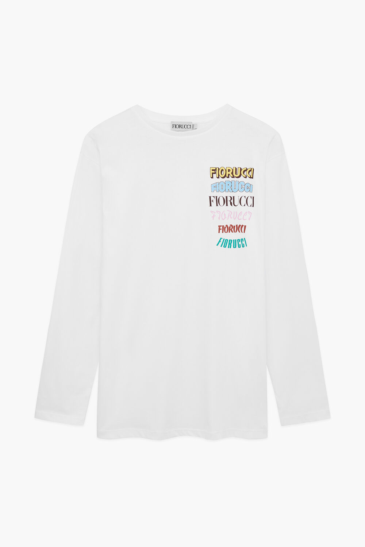 Graphic Logo Long Sleeve T-Shirt White