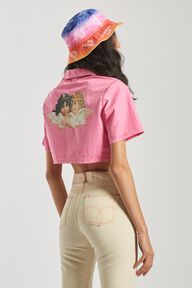Angels Bowling Shirt Pink