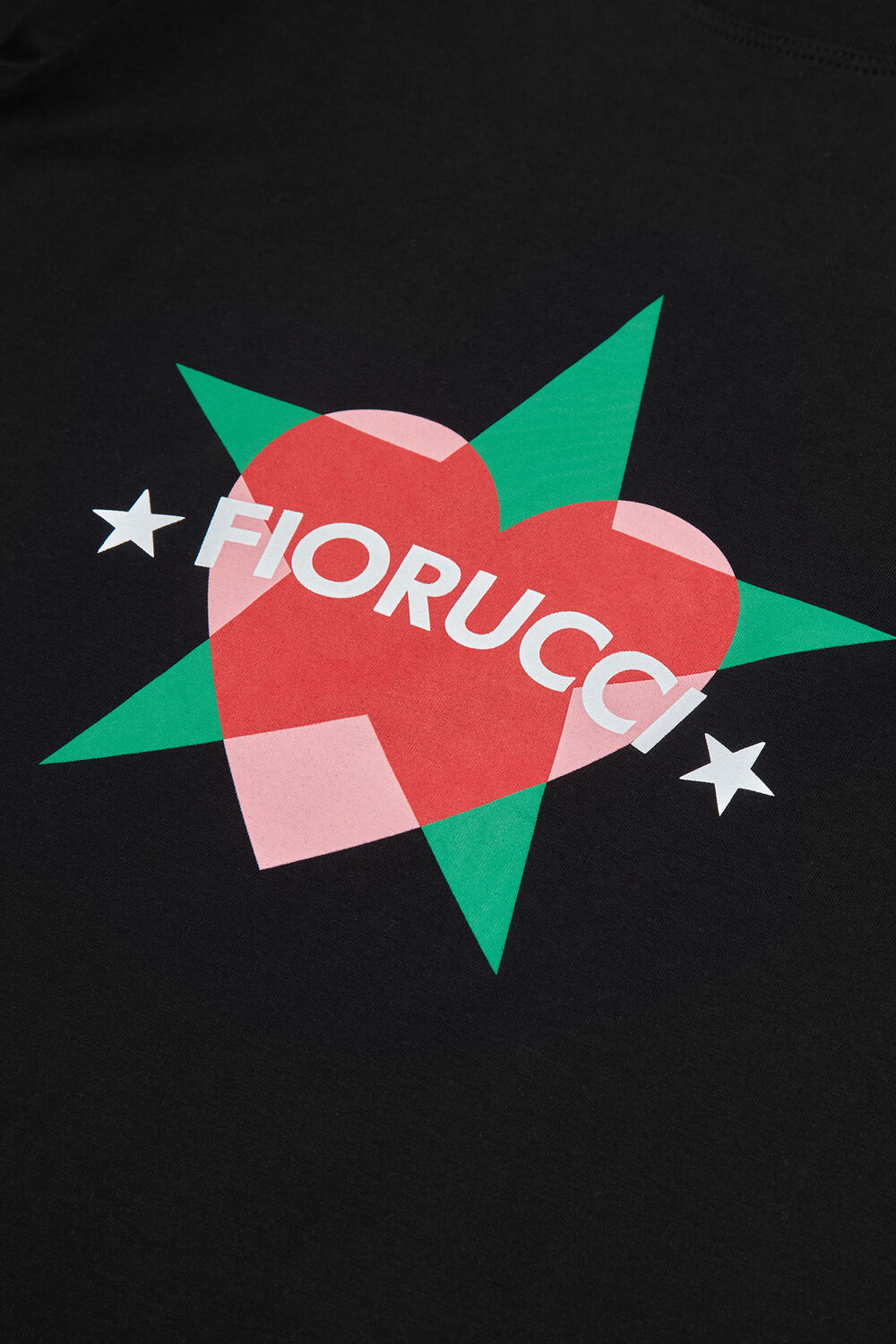 Star And Heart T-Shirt Black