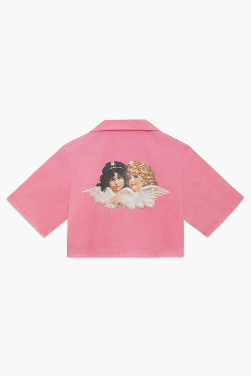 Angels Bowling Shirt Pink