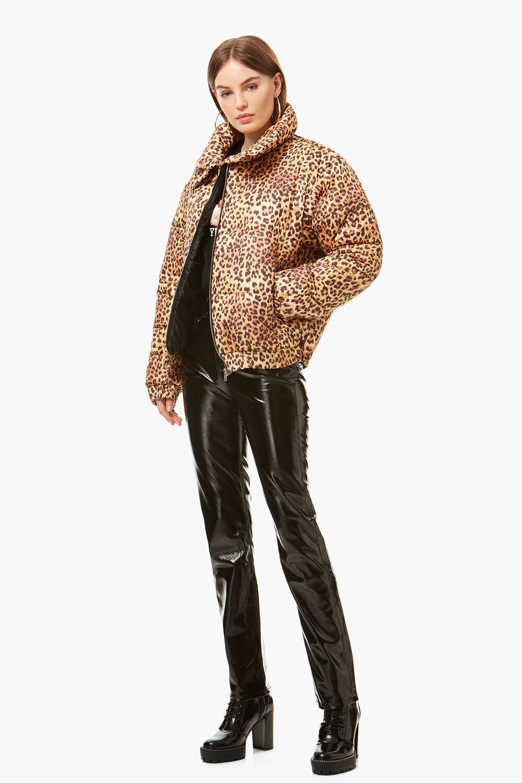 Puffer Jacket Leopard Print