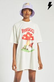 Woodland Mushroom T-Shirt Dress Off White