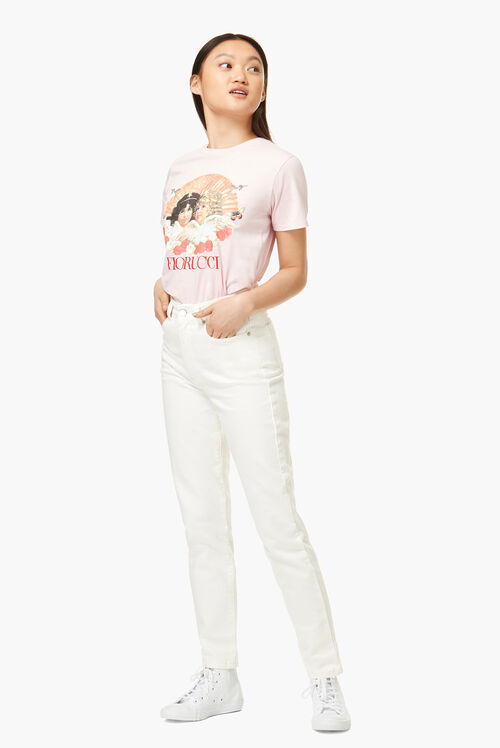 Lunar Capsule Angels T-Shirt Pale Pink