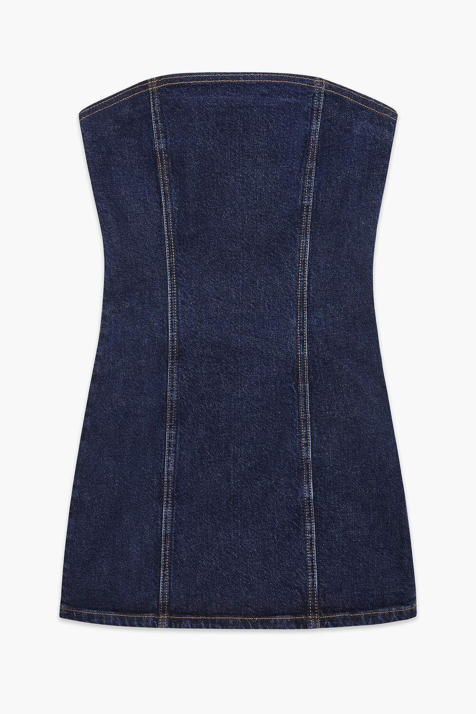 Bella Angel Patch Denim Dress Blue