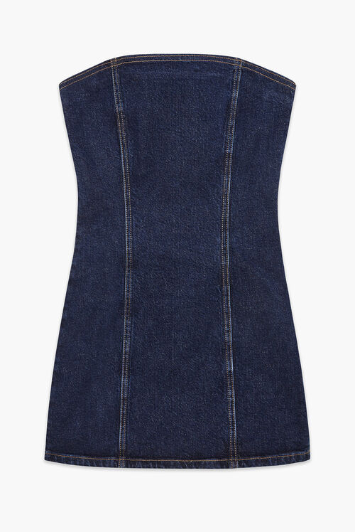Bella Angel Patch Denim Dress Blue
