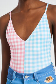 Angels Gingham Swimsuit Pink & Blue