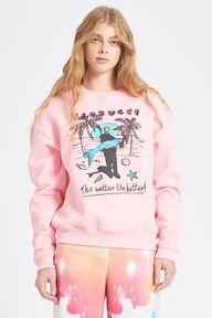 Frankenstein Mermaid Logo Sweatshirt Pink
